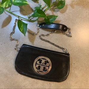 TORY BURCH Crossbody clutch bag, black